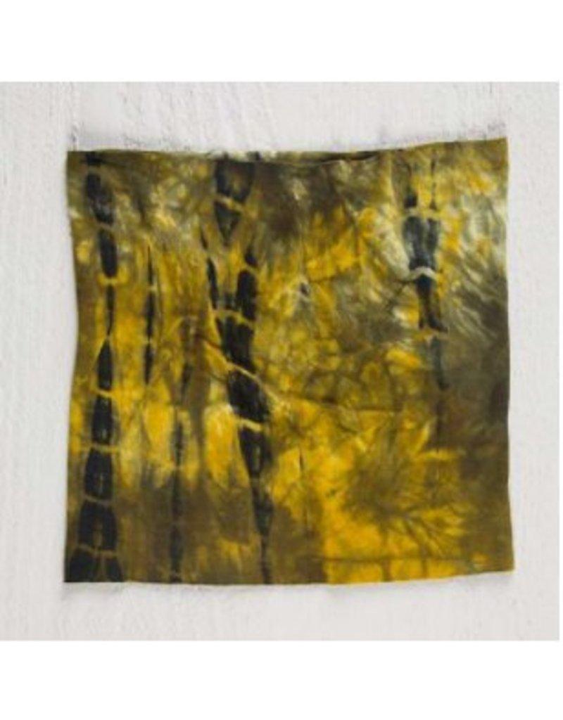natural life natural life half bandeau tie-dye green & yellow