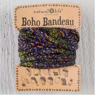 natural life natural life boho bandeau black gold garland