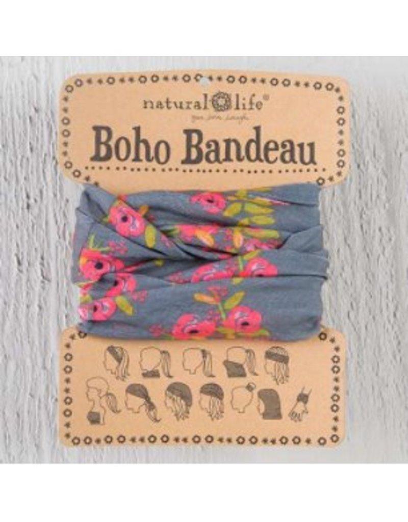 natural life natural life boho bandeau charcoal blooms
