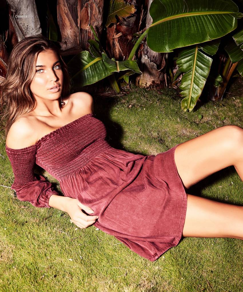 chaser chaser heirloom smocked bardot dress