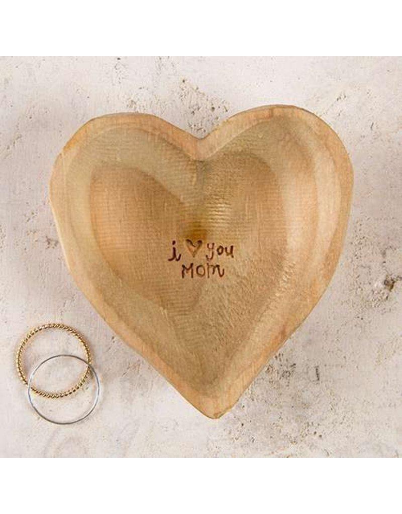 natural life natural life wood heart mom