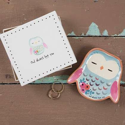 natural life natural life santa fe dish owl