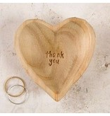 natural life natural life wood heart thank you