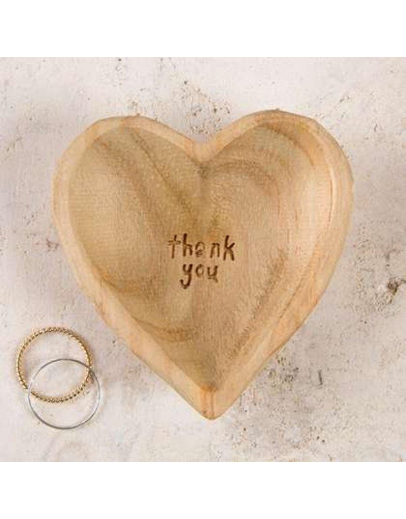 natural life natural life wood heart thank you