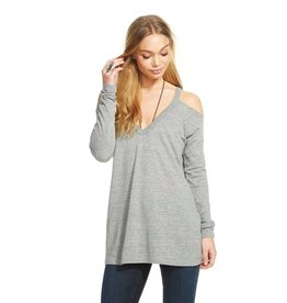 chaser cold shoulder l/s raglan