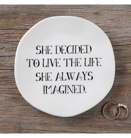 natural life she decided mantra plate