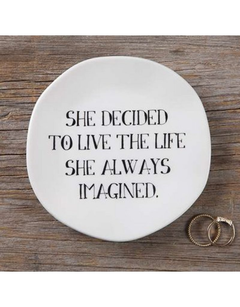 natural life natural life she decided mantra plate