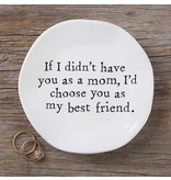 natural life natural life mom best friend mantra plate