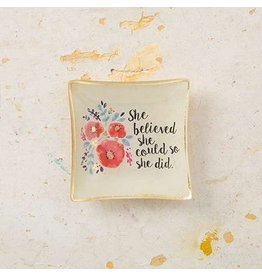 natural life she believed mini glass tray