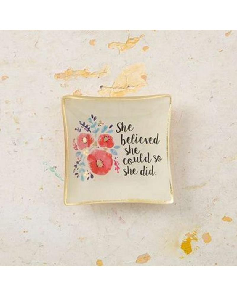 natural life natural life she believed mini glass tray