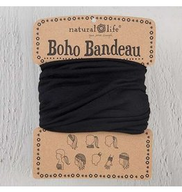 natural life boho bandeau black