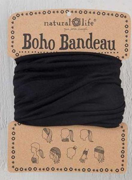 natural life boho bandeau black