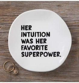 natural life her intuition mantra plate