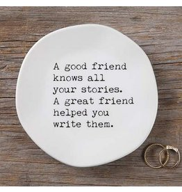natural life good friend mantra plate