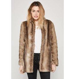 amuse society waylon faux fur jacket