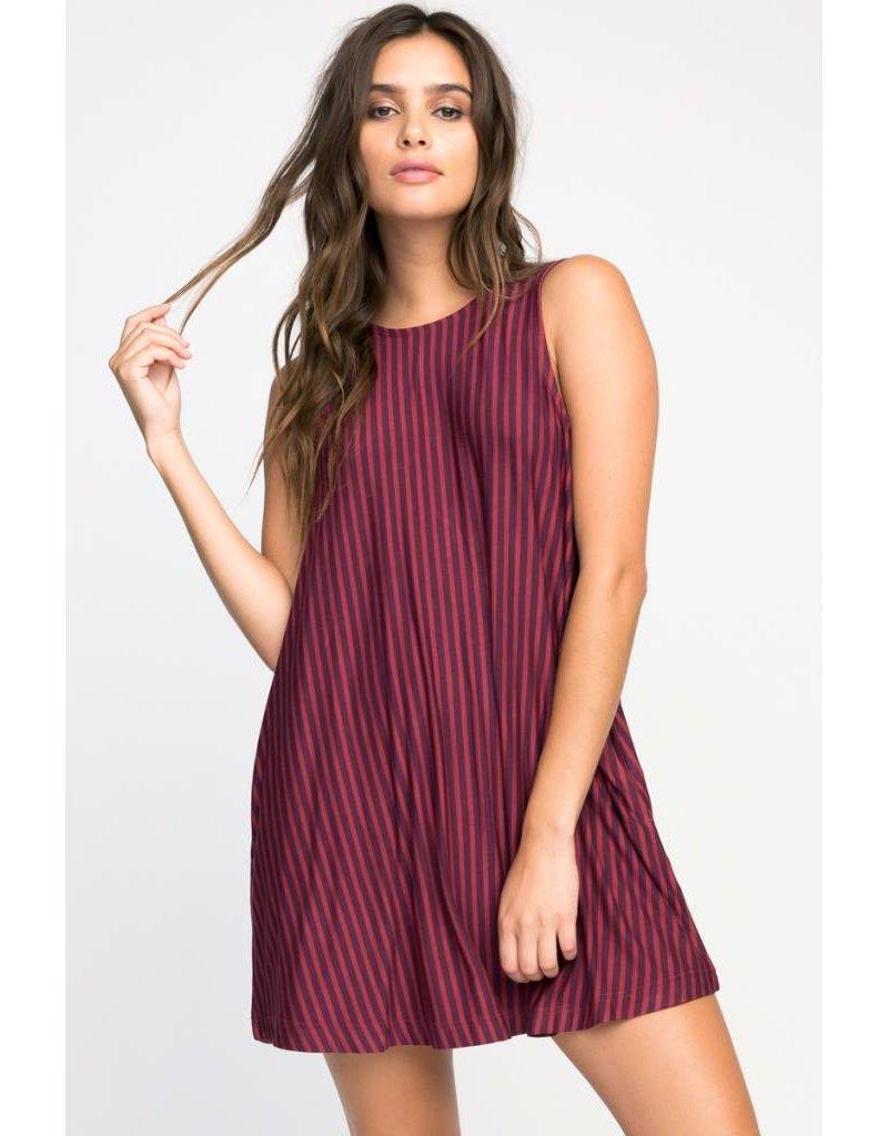 RVCA rvca tempted stripe dress