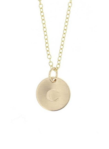 lotus jewelry studio gold token necklace