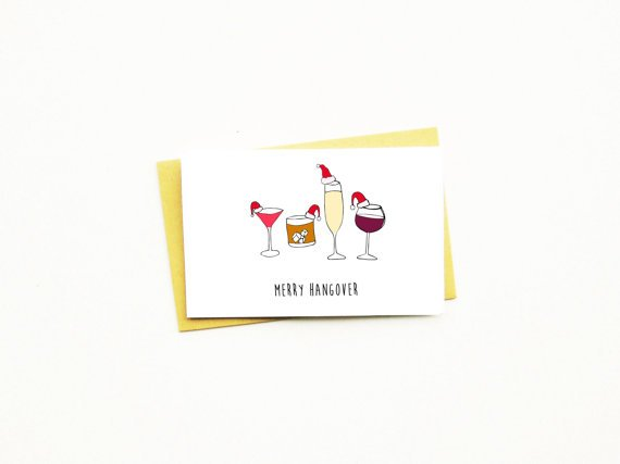 nocturnal paper nocturnal paper merry hangover card