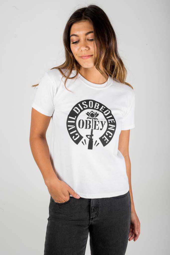 obey obey civil disobedience tee