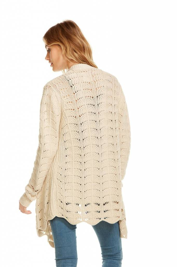chaser chaser crochet l/s cardigan
