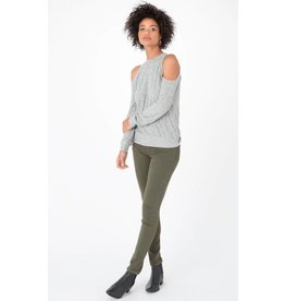 z supply marled cold shoulder top