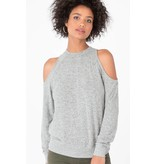 z supply z supply marled cold shoulder top
