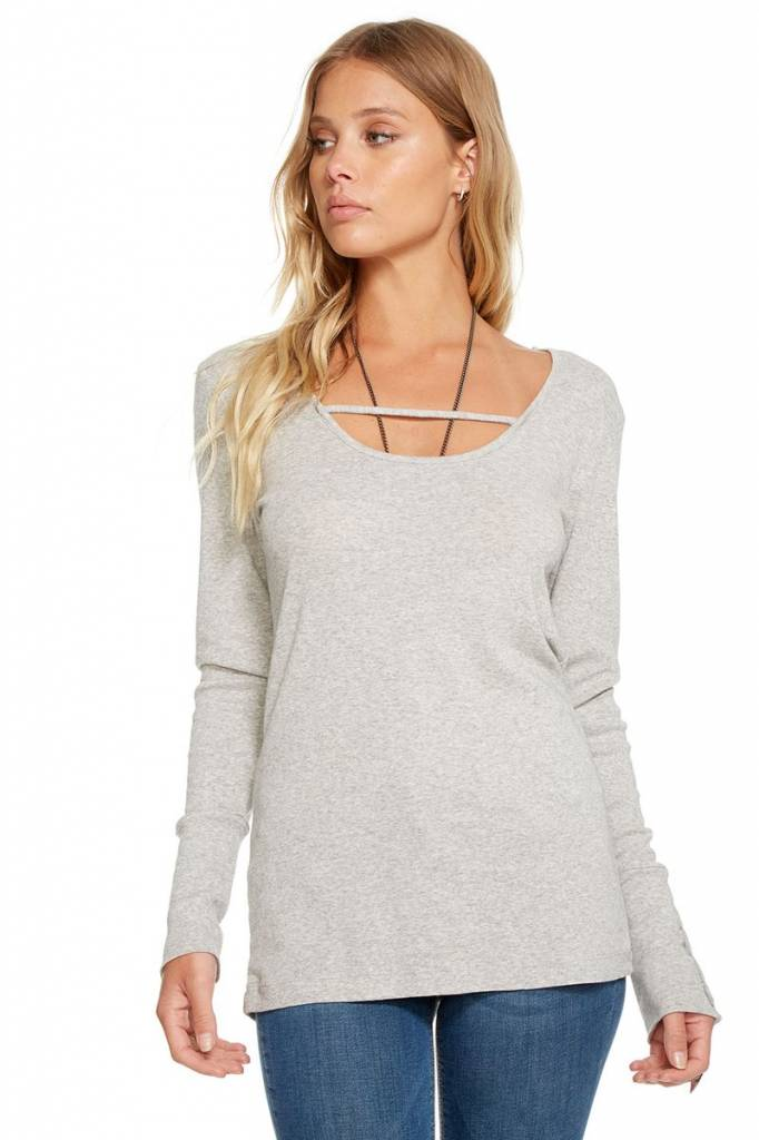 chaser chaser baby rib l/s scoop tee