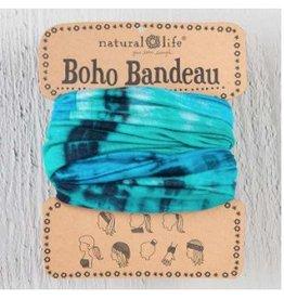 natural life bandeau tie-dye turq blue white