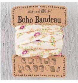 natural life boho bandeau cream/pink floral