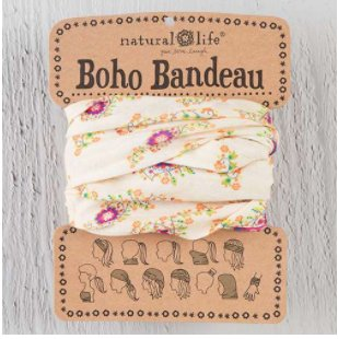 natural life natural life boho bandeau cream/pink floral