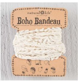 natural life crochet boho bandeau cream