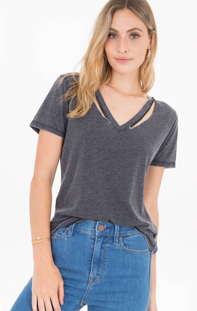 z supply z supply cut out v neck tee