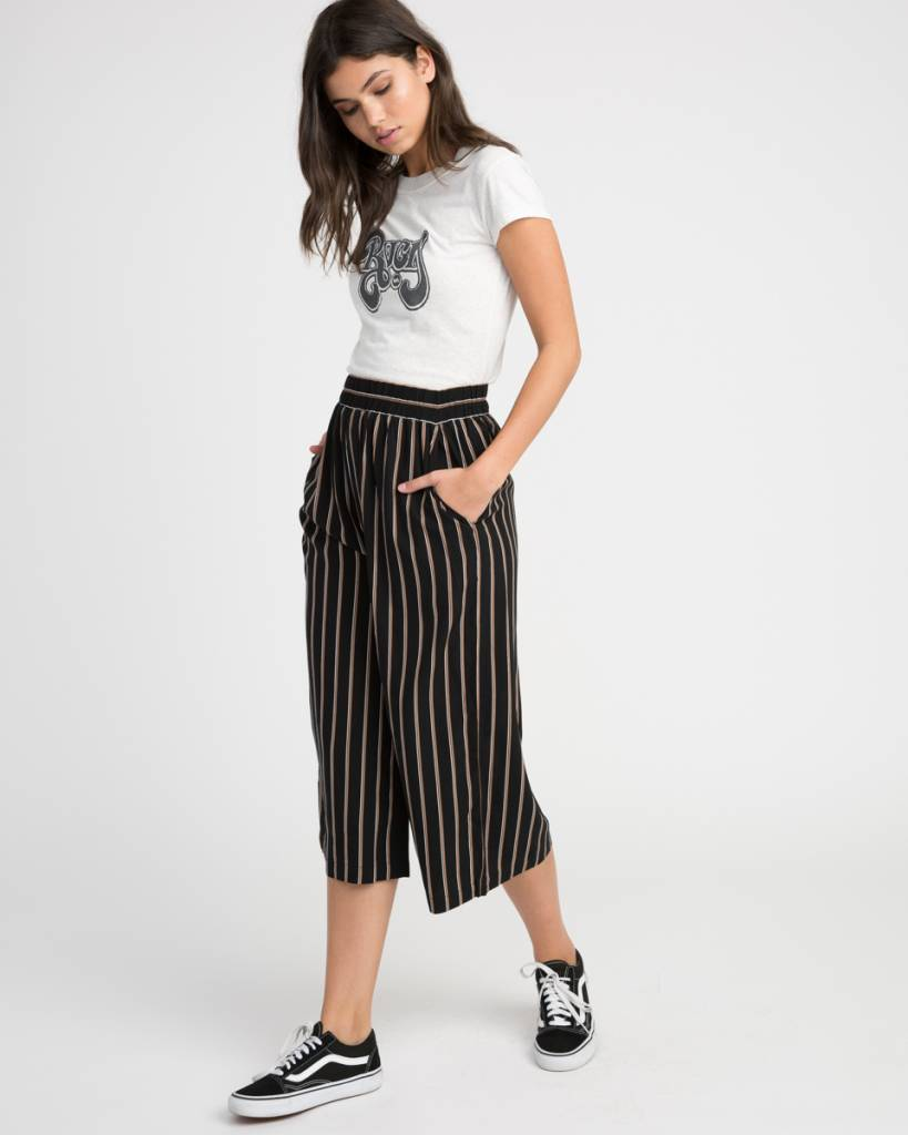 RVCA rvca one eighty striped culotte