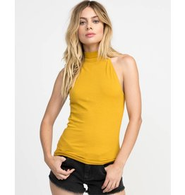 RVCA follow me mock neck tank