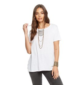 chaser strappy drape tee