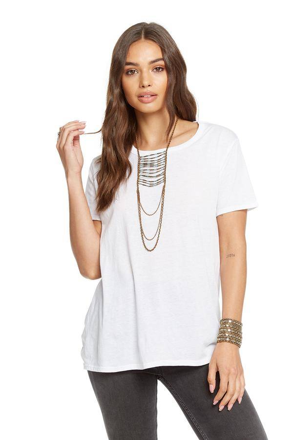 chaser chaser strappy drape tee