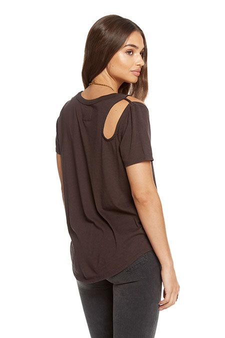 chaser chaser shoulder vent shirttail tee