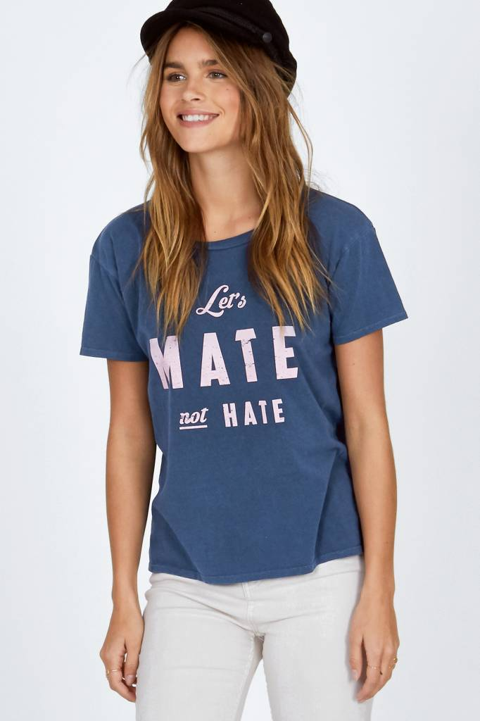 amuse society amuse society lets mate not hate tee