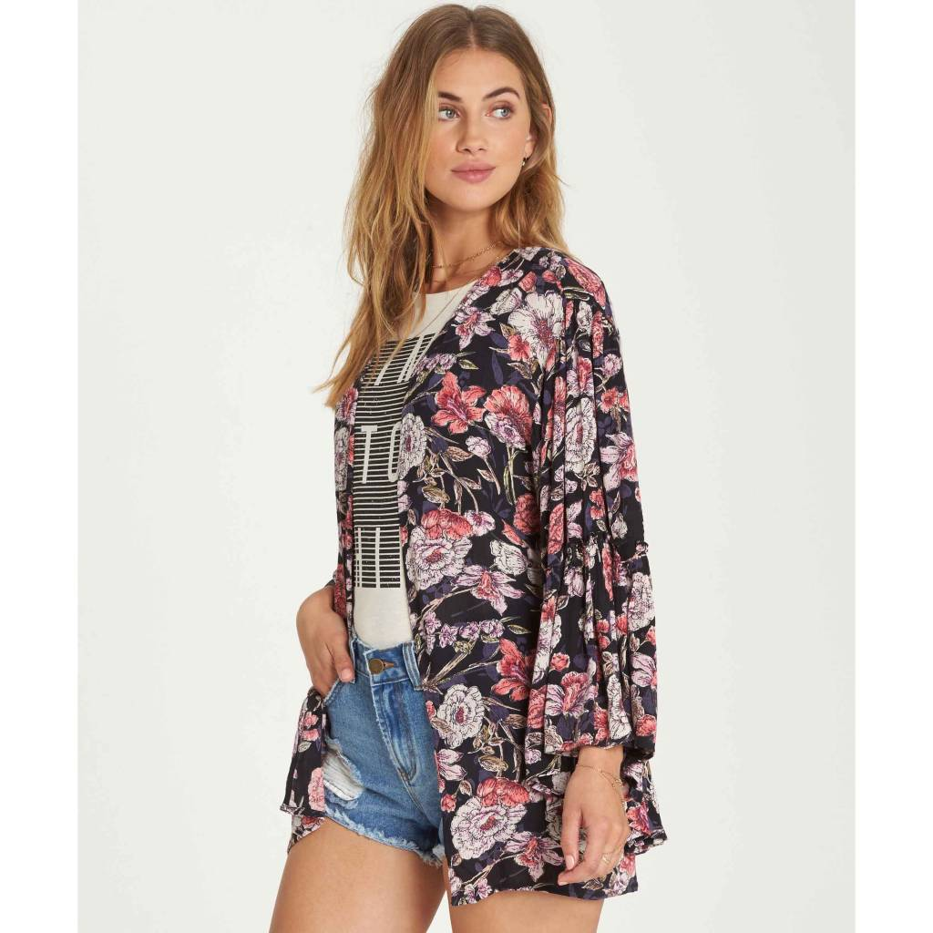 billabong billabong all flored kimono