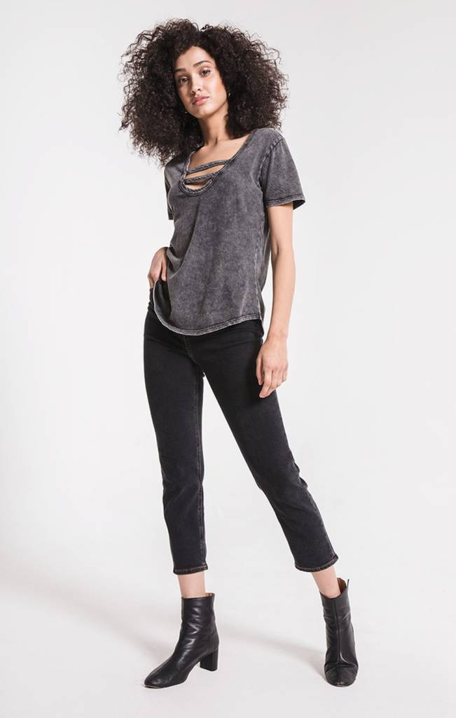 z supply z supply washed cotton strappy tee