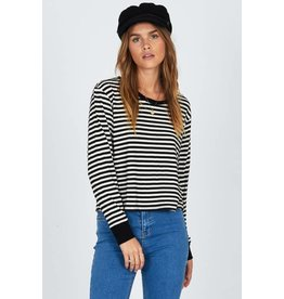 amuse society honey stripe top