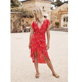 auguste the label auguste the label celestial frill wrap dress