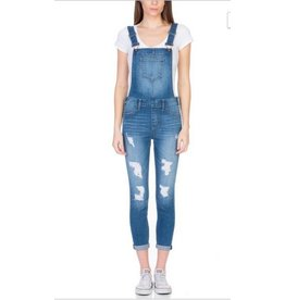 distressed skinny overalls
