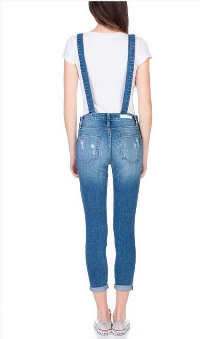 cello distressed skinny overalls