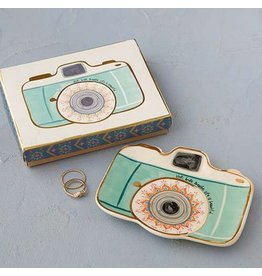 natural life camera trinket dish