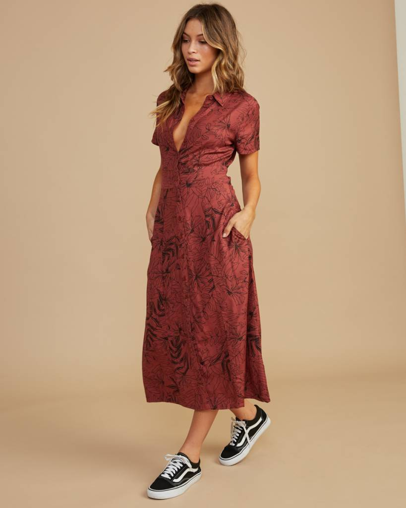 amuse society rvca caper dress