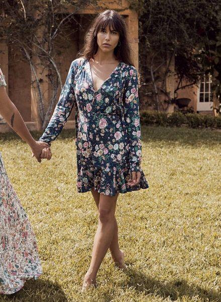auguste the label spring rose mini dress