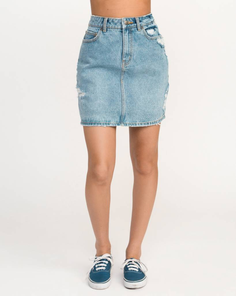 RVCA rvca jolt denim skirt