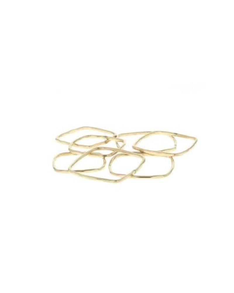 lotus jewelry studio lotus square stacking ring gold