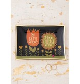 natural life natural life be brave my heart glass tray